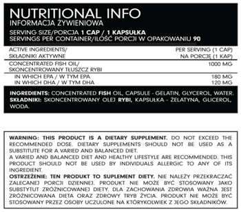 FSN Nutrafine Omega 3 1000mg x90 kaps